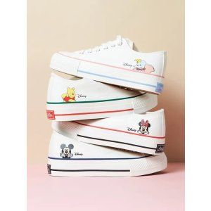 JINNY KIM码全 多色可选迪士尼低帮帆布鞋