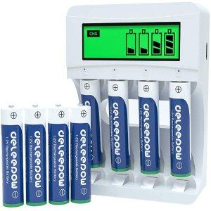 Deleepow AAA Rechargeable Batteries Ni-MH 1100mAh (8Pcs)