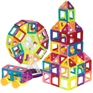 Ending Soon: $30.99 + Free Shipping158-Piece Kids Clear Magnetic Building Block Tiles Toy Set
