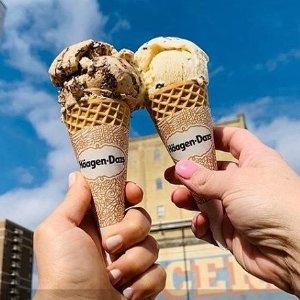 免费哈根达斯甜筒吃起来限今天:一年一度冰激凌日来啦 超多口味任你选