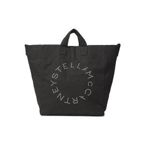 Stella McCartney黑色logo托特包