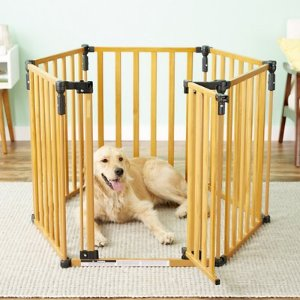 MyPet 3-in-1 Wood Pet Yard for Dogs & Cats - Chewy.com