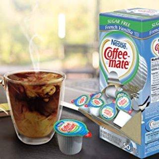 $4.24NESTLE COFFEE-MATE Coffee Creamer Sugar Free French Vanilla 50 count