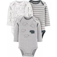 Carter's 婴儿有机棉包臀衫3件套