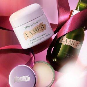 满$350送3件套最后一天:La Mer 经典回购护肤 唇部精华套装、防晒护理套装