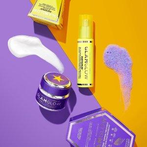 折扣区低至5折+额外8折Glamglow 美妆护肤热卖 收黄管面膜套装