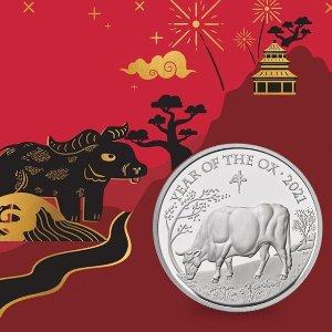 £13起收上新:The Royal Mint 牛年生肖币发售