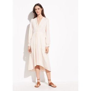 VinceTwist Drape Long Sleeve Dress
