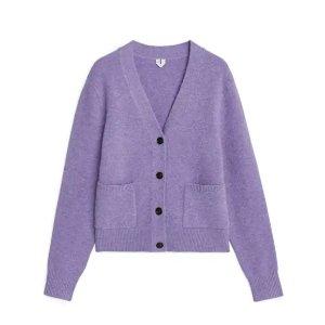 全场8.5折!£67收香芋紫开衫上新:Arket 毛衣针织衫上市 收秋冬极简之美