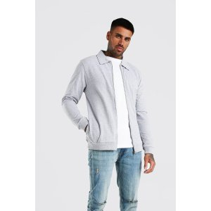boohooMANPique Harrington Jacket | boohooMAN