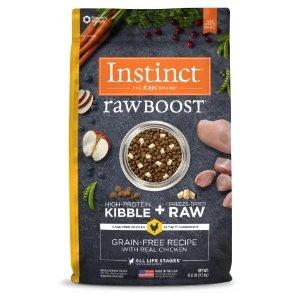 InstinctRaw Boost系列 鸡肉味无谷冻干狗粮 21磅