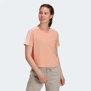 Adidas女款三条杠短袖