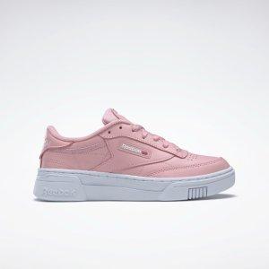 ReebokClub C 粉色厚底鞋