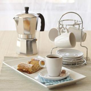 $5.41(原价$11.67)史低价:IMUSA 意式咖啡壶 摩卡壶 6杯