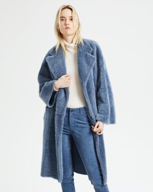 Shearling Robe Coat