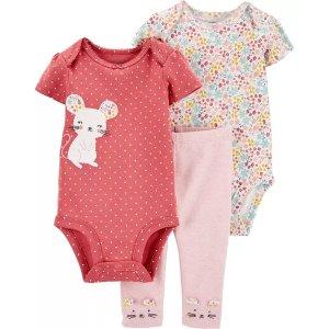 Carter's降价婴儿小老鼠3件套