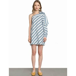 Audrey Bow Tie One Sleeve Dress