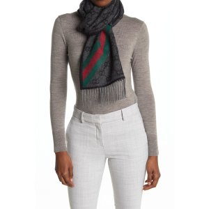 Gucci羊毛logo围巾