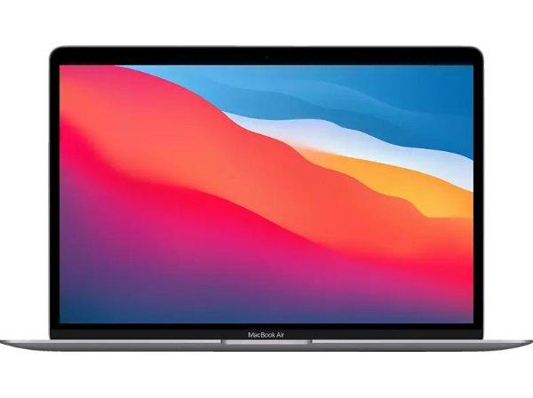 新款MacBook Air 笔记本 (M1,2020) MGN63D/A, Notebook mit 13,3 Zoll Display, 8 GB RAM, 256 GB SSD, 7-Core GPU, Space Grau