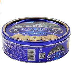 现价$2.78(原价$8.3)白菜价:Royal Dansk 热销黄油饼干 12oz铁盒装