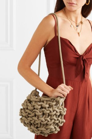 Alienina | Nadia woven cotton shoulder bag | NET-A-PORTER.COM
