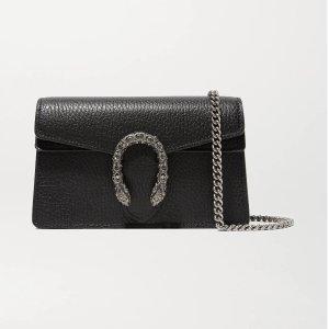 GucciDionysus super mini textured-leather shoulder bag
