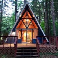 华盛顿 A型林间木屋