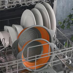 3件套折后€13.16 可折叠收纳MOOLWEEL 清洗沥水盆 食品级硅胶 清洗果蔬/谷物 洗碗机适用