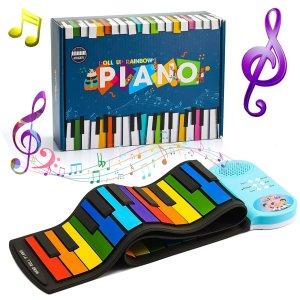 $26.34 (原价$40.99)Vingtank 49键可折叠收纳钢琴键盘 开启小音乐家养成计划