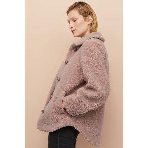 粉色泰迪外套
