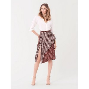 Diane von Furstenberg丝绸半身裙