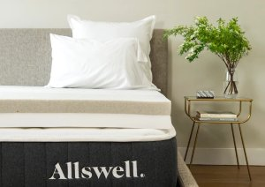 "Allswell 4"" CoolTouch™ Memory Foam Mattress Topper, Graphite & Copper Gel"