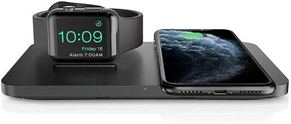 Seneo 无线充电版+手表充电底座 2合一充电器