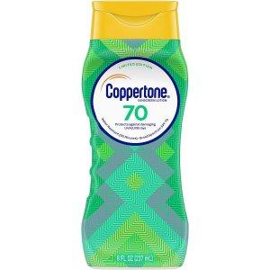 Coppertone 限量版Ultra Guard SPF 70 防晒乳大促 便宜大碗
