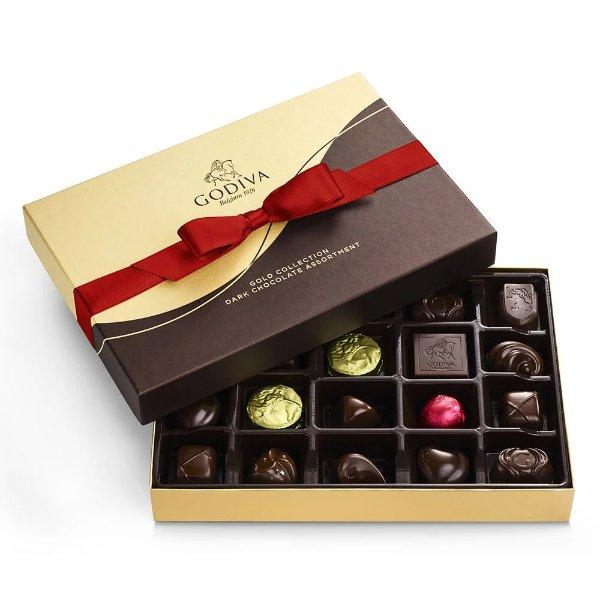 黑巧克力礼盒22块礼盒