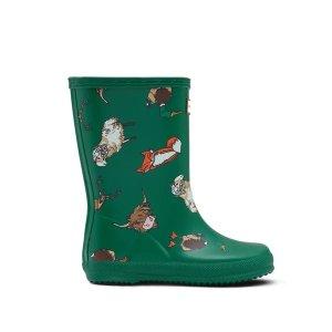 Hunter动物印花儿童雨靴