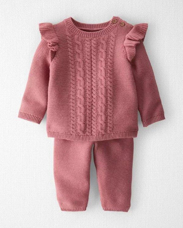 婴儿有机棉针织套装