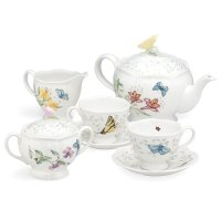 Lenox Butterfly Meadow 7-piece Tea Set by Lenox 茶具套组