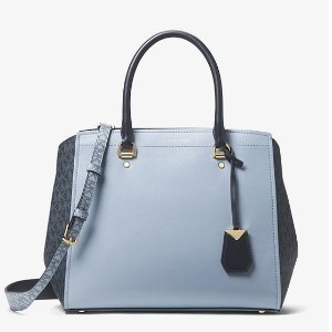 27f5443fc1604c Michael KorsBenning Large Leather and Logo Satchel. $134.25 $378.00. Michael  Kors Benning ...