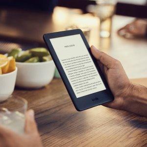 $89.99(原价$119)All-new 全新Kindle电纸书 新增可调节屏幕照明  黑白双色可选