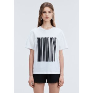 Alexander WangEXCLUSIVE T-SHIRT WITH BONDED BARCODE
