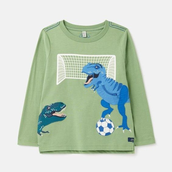 儿童贴布绣恐龙T恤