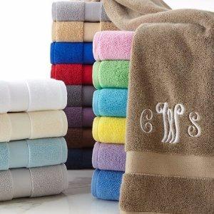 $7.28 (原价$27) 包邮 可定制姓名Ralph Lauren Home Wescott 超优品质全棉浴巾