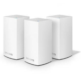 Linksys Velop Mesh路由 全屋WiFi系统 (3个, 白色)