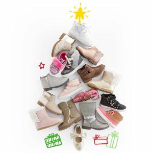 低至4折+额外8折 0-14岁都有 上新款卡特家姐妹店OshKosh BGosh 所有鞋款优惠,从婴儿到青少年尺码都有
