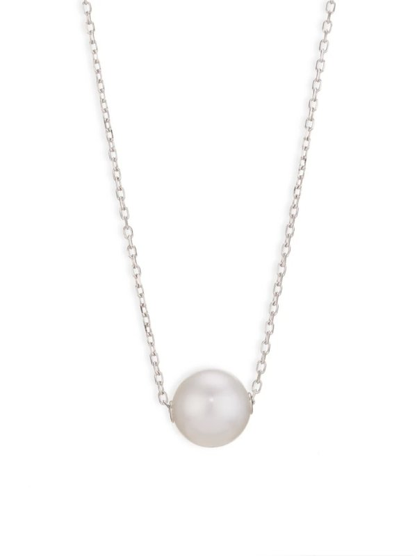 18k 白金珍珠项链