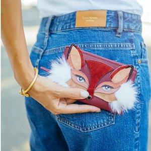 全场7折+包邮 收封面款小狐狸即将截止:kate spade 动物系列包包、首饰热卖