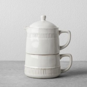 Hearth & Hand Coffee Pot & Mug Set Cream