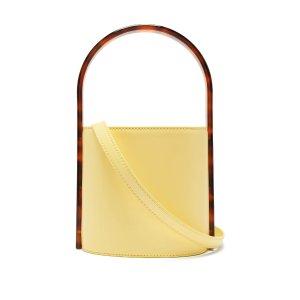 StaudBisset acetate and leather bucket bag