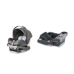 $106.84(原价$256.48) 销量冠军比黑五低:Chicco Keyfit 30 婴儿安全座椅+Keyfit 系列婴儿安全座椅底座套装